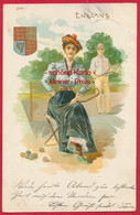 Alte Litho.-AK 'Tennis' ~ 1900 - Tennis