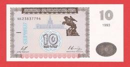 Billet  ARMENIE - 10 Dram De 1993 - Pick 33 - Armenia