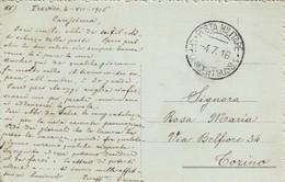 """9777-CARTOLINA ILLUSTRATA -""""POSTA MILITARE-UFF. CONCENT. SUSS 1"""" - 4-7-1916 - Marcophilia"""