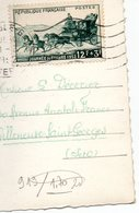 """Timbre N° 919 """" Journée Du Timbre 1952 """"  Sur Carte Postale De Grenoble - 1921-1960: Modern Tijdperk"""