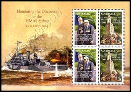Australia 2008: Foglietto HMAS Sydney / HMAS Sydney S/S ** - Blocks & Sheetlets