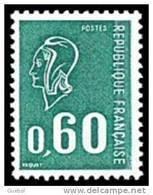 France Variété N° 1815 A ** Marianne De Béquet - Le 60c Vert Gomme Tropicale - Taille Douce - Abarten Und Kuriositäten