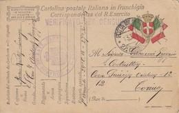 "9781-FRANCHIGIA 1° GUERRA-""POSTA MILITARE-27° DIVISIONE"" - 13-12-1917 - Marcophilia"