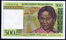 Madagascar 1998 500 Francs UNC Neuf New - Madagascar