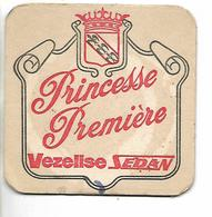 Sous-bock Bière Princesse Première VEZELISE SEDAN - Bierdeckel