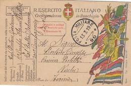 "9784-FRANCHIGIA 1° GUERRA-""POSTA MILITARE-90"" - 13-3-1919 - Marcophilia"