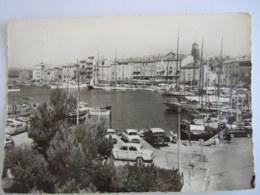 83 Var Saint Tropez Vue Générale Du Port Auto Edit J. Courchet Circulée 1963 Flamme La Côte D'Azur - Saint-Tropez
