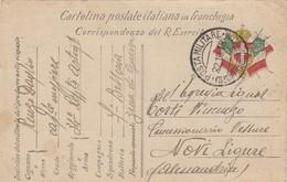 """9787-FRANCHIGIA 1° GUERRA-""""POSTA MILITARE-3° UFFICIO D'ARMATA"""" - 22-10-1915 - Marcophilia"""
