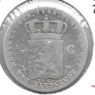 *netherlands 1/2 Gulden  1848 Km 73.1   Fr - 1/2 Gulden