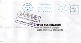 "OMEC NEOPOST IJO85 Code ROC 19595A Ile Réunion St Denis Messagerie CTC ""AFFRANCHISSEMENT NON REGLEMENTAIRE A TAXER"" - Annullamenti Meccaniche (Varie)"