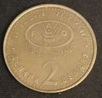 MACEDOINE - MACEDONIA - 2 DENARS 1995 - FAO - KM 6 - ( Truite ) - Macedonië