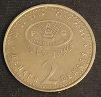 MACEDOINE - MACEDONIA - 2 DENARS 1995 - FAO - KM 6 - ( Truite ) - Macedonia