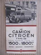 Petit Catalogue - LE CAMION CITROËN  TYPE 23 - 1938 - Auto
