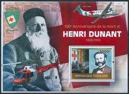 B8537 Togo Personality Dunant Transport Organization Red Cross S/S MNH - Henry Dunant