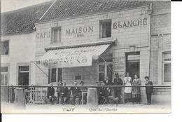 """TILFF - Café Maison Blanche """"J. Morel"""" - Bier/Bière DORTMUND - Quai De L'Ourthe - Ed: Bauvelink - Circulé - 2 Scans. - Esneux"""