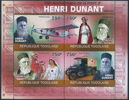 B8539 Togo Personality Dunant Transport Organization Red Cross Miniature Sheet MNH - Henry Dunant