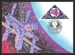 3646 Espace (space Raumfahrt) Carte Maximum (card) Russie (Russia Urss USSR) 5620 Mir 12/4/1989 Cosmonauts Day Gagarin - Rusland En USSR