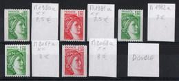 France YT 1980a / 1981a / 1982a / 2067a / 2068a Tous Numéro Rouge Neufsch Xx Mnh Non Dentelés De Roulettes Cote 38€ - France