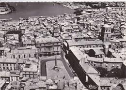 13 ARLES Vue Aérienne ,place De La République ,carte Année 1950 - Arles
