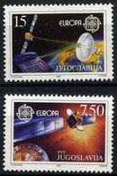 (!) Timbre(s)  EUROPA CEPT De 1991  Thème Europe Et Espace YOUGOSLAVIE Y&T  N° 2341/2342 Neuf(s) ** Mnh - 1991