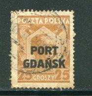 DANTZIG- Bureau Polonais- Y&T N°21- Oblitéré (un Léger Aminci) - Danzig