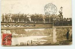 Carte Photo - Vignette Esperanto - Pont De Paris - Envoyée à Bruxelles - Esperanto