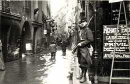 PARIS 1900 Inondations 1910 Rue De Bièvre RV - Paris Flood, 1910
