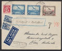 PA1 X2, PA6 Et N°339 Sur Lettre Par Avion (Trouvé à La Boite) De Bruxelles > Wien (Autriche). Taxe De 40ctm à L'arrivée - Airmail