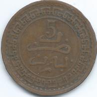 Morocco - Abd Al-Aziz - 5 Mazunas - AH1321 (1903) - Paris - KMY16.3 - Morocco