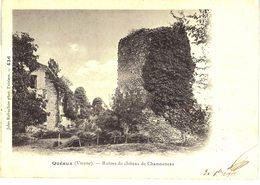 Carte POSTALE Ancienne De QUEAUX - Château De Chamouneau (ruines) - Otros Municipios