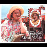 PALAU 2000 - Scott# 580 S/S Queen Mother MNH - Palau
