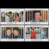 UGANDA 1990 - Scott# 919/24 QEII Birthday MNH - Uganda (1962-...)