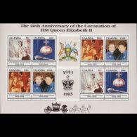 UGANDA 1993 - Scott# 1137 Sheet-Coronation MNH - Uganda (1962-...)