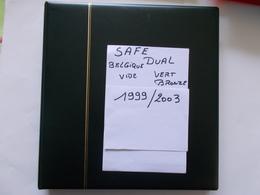 BELGIQUE - ALBUM SAFE DUAL  Coloris Vert Bronze  - Contenant Feuilles De L'année 1999 A 2003 - Bindwerk Met Pagina's