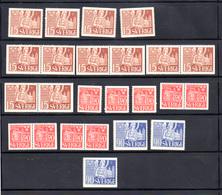Suède 1946, Cathédrale De Lund, 319 – 319 B – 320 – 320b – 321** , Cote 52 € - Neufs