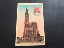 CPA 1920 Strasbourg Cathédrale Cachet Et Timbre Allemand - Strasbourg