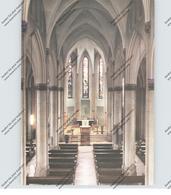 4130 MOERS, Pfarrkirche St. Josef, Innenansicht - Moers