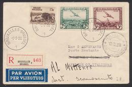 PA3 Et 4 + N°486 Sur Lettre En R Par Avion De Bruxelles (1939) > Gambela (Irgalem), Afrique Or. Italienne / Al Mittente - Posta Aerea