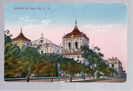 Nicaragua Catedral De Leon, Nic. C.A. Ca 1920 Old Postcard - Nicaragua