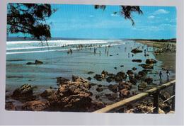 Nicaragua Panoramic View Of The Beach Of Poneloya Ca 1950 Old Postcard - Nicaragua