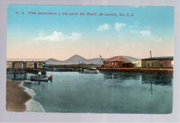 Nicaragua Vista Panorámica Y Una Parte Del Muelle De Corinto Ca 1930 Old Postcard - Nicaragua