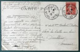 France, TAD (type B4) ILLOIS Seine Inferieure 1915 Sur CPA - (B022) - Poststempel (Briefe)