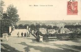 SL 3 X Cpa 41 BLOIS. L'Evêché. Animation Sur La Terrasse 1908, Vue Générale Et Jardin - Blois