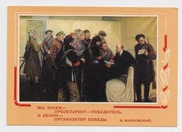 LENIN Card 1969 Stationery October Revolution Sailor Soldier - Lenin