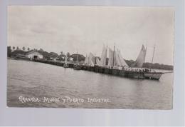 Nicaragua Granada, Muelle Y Puerto Lacustre Ca 1930 A. Diaz Old Photo Postcard - Nicaragua