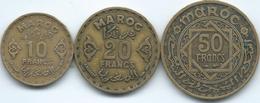 Morocco - Mohammed V - AH1371 (1952) - 10, 20 & 50 Francs - KMs 49-51 - Marocco
