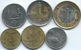 Morocco - Mohammed VI - 10 (2011) & 20 Santima (2012); ½ (2011), 1 (2011), 5 (2011) & 10 Dirham (2011) (KMs136-141) - Marocco