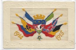 MILITARIA.  CARTE SUR SOIE 1914/1915 - Humour