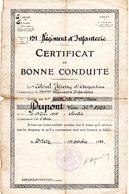 Certificat De Bonne Conduite Signé Par Le Colonel Thierry D ' Argenlieu (futur Amiral) - Documents