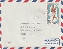 SPORTS - J.O. De MEXICO. Lettre De MAURITANIE -  TTB. - Sommer 1968: Mexico